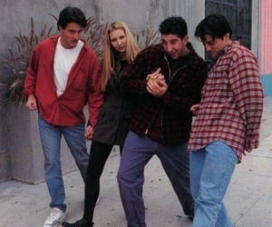 chandler, David Schwimmer, and Joey image