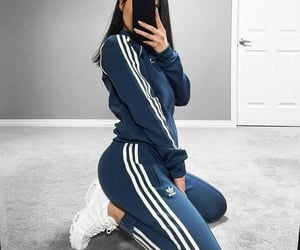 chicas, gilr, and adidas image