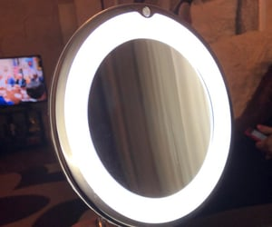 led, mirror, and magnifying image