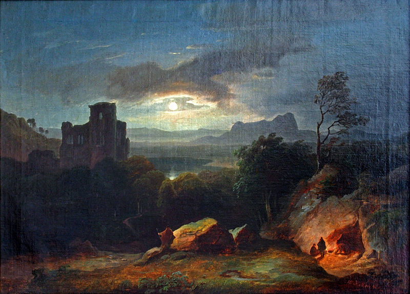 19th century, castle, and moonlight image