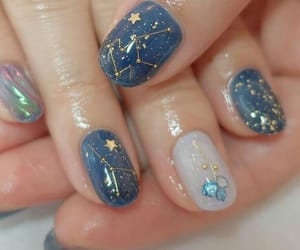 nails, blue, and stars image