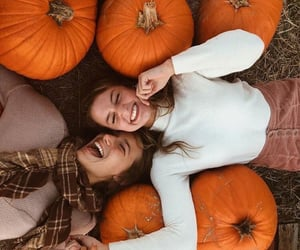 autumn, pumpkin, and friends image
