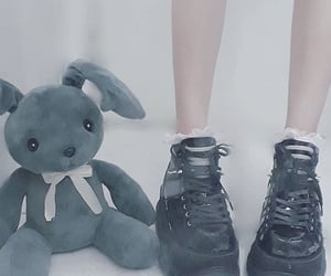 bunny, legs, and edgy image