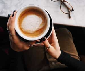 coffee, autumn, and drinks image