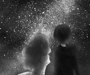 stars, anime, and couple image