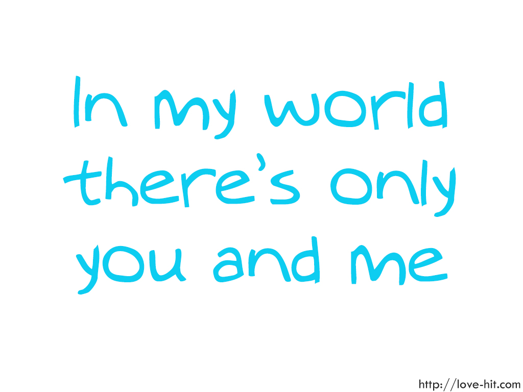 you only for me