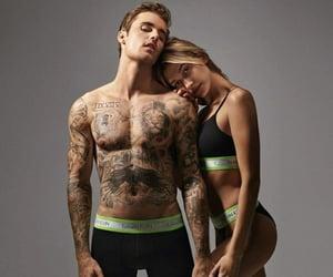 justin bieber, hailey bieber, and Calvin Klein image