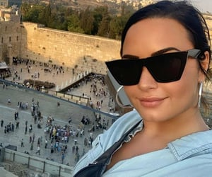 girl, glasses, and lovato image