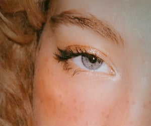 aesthetic, curls, and makeup image