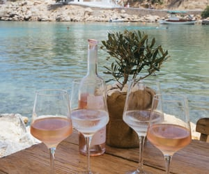 summer, wine, and drink image