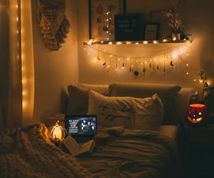 autumn, bedroom, and decoration image