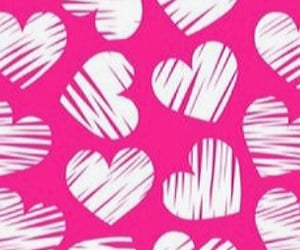 hearts, wallpaper, and pinkhearts image