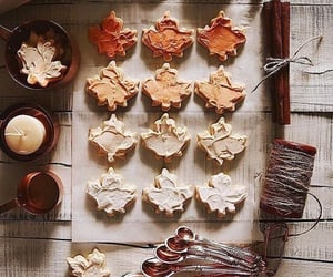 autumn, treats, and biscuits image