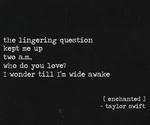 album, enchanted, and Lyrics image