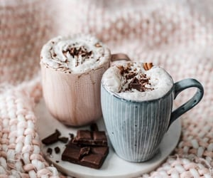 chocolate, coffee, and autumn image