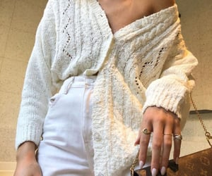 cardigan, white aesthetics, and clothes image
