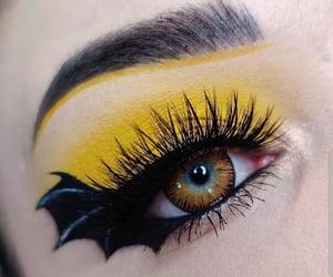 Halloween, makeup, and yellow image