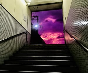 purple, japan, and photography image