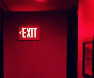 exit, red, and rojo image
