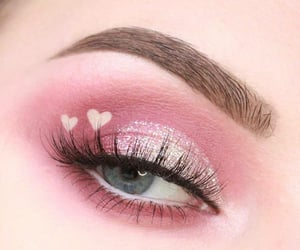 makeup, eyeshadow, and pink image