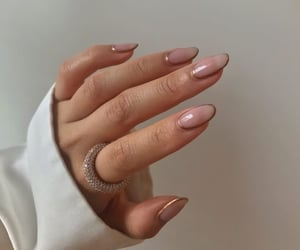 nails, manicure, and ring image
