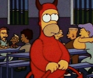 simpsons, Devil, and homer image