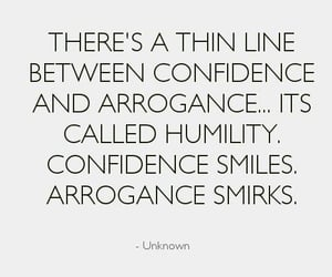 quotes, confidence, and humility image