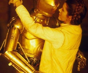 star wars, c3po, and carrie fisher image