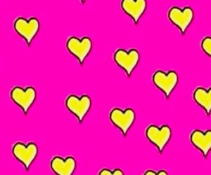 pinkhearts, heartswallpaper, and yellowhearts image