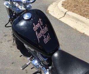 black, motorcycle, and pink image