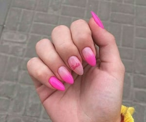 barbie, nail art, and pink image