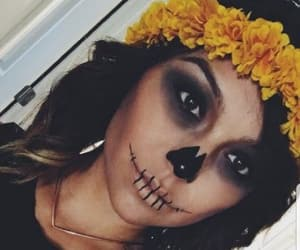 girl, Halloween, and sugar skull image