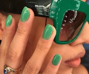fashion, nails, and green image