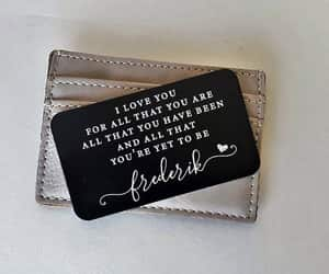 etsy, gift for boyfriend, and wallet insert card image