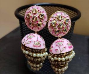 beautiful, jhumki, and earrings image