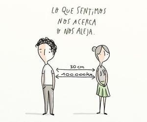 vida, distancia, and frases español image