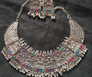 beautiful, necklace set, and earrings image