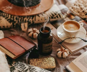 autumn, aesthetic, and books image