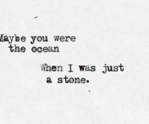 quote, ocean, and stone image