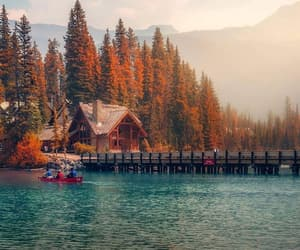 autumn, boat, and colourfull image