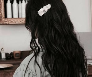 black hair, curly hair, and girls image