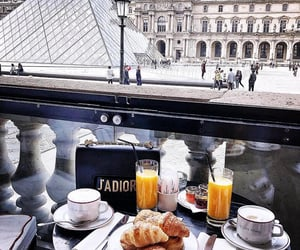 coffee, croissants, and dior image