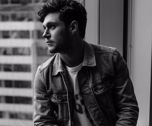 black and white, horan, and niall image