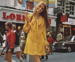 vintage, dress, and yellow image