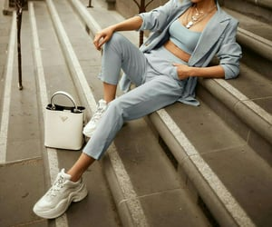 blue, chic, and fashion image