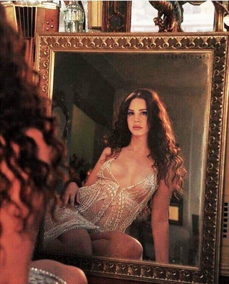 mirror, vintage, and lana del rey image