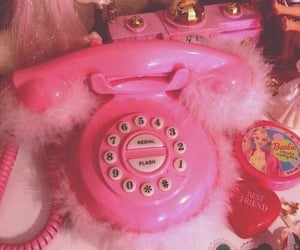 pink, phone, and 90s image