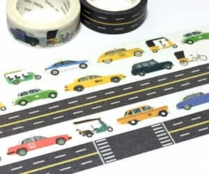 masking tape, taxi driver, and travel planner image