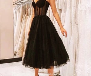 beauty, black dress, and fashion image