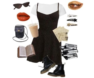 black, clothes, and Collage image